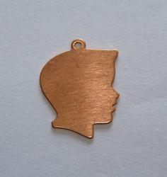 #TDS #Copper #Stamping #Blanks #BoysHead 1 Inch 24ga Pkg Of 4 #handmade $3.59