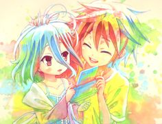 Sora and Shiro No game no life by krambox.deviantart.com on @DeviantArt