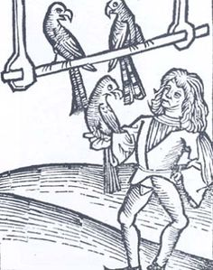 A Polar Bear's Tale: Medieval falconers #falconry #falconer #medieval #etching #peregrine #raptor