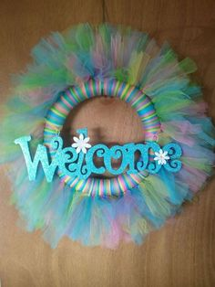 Spring Wreath made of tulle:
