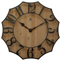 awesome Infinity Instruments Black Metal on Wood 26.75-inch Webbed Wall Clock Check more at http://hasiera.co.uk/s/dining/product/infinity-instruments-black-metal-on-wood-26-75-inch-webbed-wall-clock/