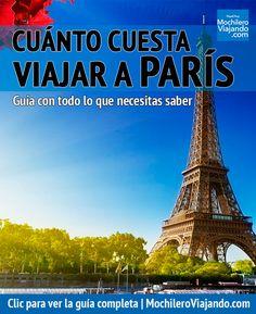 Todo lo que necesitas para saber cuánto cuesta viajar a París, aquí encontrarás costos de hospedaje, alimentos, transporte, atracciones y más, así como ejemplos de presupuesto diario: austero, moderado y de lujo. #París #Francia #Viaje #Mochilero #Eiffel #TorreEiffel #guia #guide #viajes #presupuestos #guiadeViaje #traveltips #travel #travelblog #travelblogger #europe #France #europa
