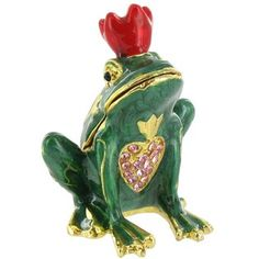 Keep rings and earrings stored safely in this metal frog jewel box. | Shop Hobby Lobby