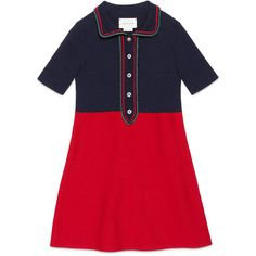 Gucci Children'S Merino Dress With Lurex ($365) ❤ liked on Polyvore featuring children, clothing 4-12 yrs and girls
