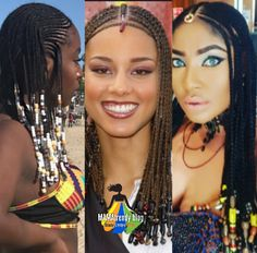 Braids & Beads Just how it always goes, fashion (hairstyles) never fade, it only stops trending and comes back in a more spicy way and find its way back to the top. The tribal braids with beads…