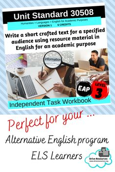 This is a complete digital and editable work booklet that scaffolds students through writing a short crafted text. Students must write an expository essay in response to a research question. Sources of information supplied. Designed for NZQA Unit Standard 30508 - part of the level 3 English for Academic Purposes suite - however, you can tweak it to suit your needs and students can use it as a 'write on'. Perfect for an alternative senior English programme or for English Learners (ESL). Literacy Strategies, Citing Sources, Research Question, English Language Learners, Close Reading, Level 3, Differentiation, Student Work, Student Learning