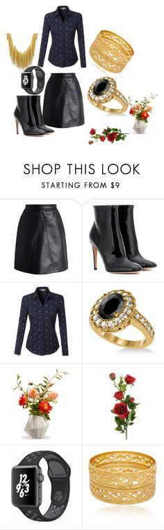 """Untitled #133"" by rosshandmadecrafts ❤ liked on Polyvore featuring Chicwish, Gianvito Rossi, LE3NO, Allurez, National Tree Company, NIKE and Orlando Orlandini"