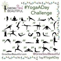 yoga challenge - a great way to build fitness, even if you can't get outside for a #workout - tones and builds your core