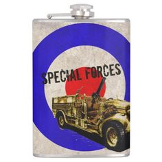 With flasks from Zazzle you are always ready for a BYOB party. Get your own hip flask from us today! Retro Ideas, Special Forces, Vintage Gifts, Flask, Trucks, Design, Truck, Swat