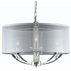 Aurora 3 light Pendant in Plated Chrome finish | Overstock.com Shopping - Great Deals on TRIARCH INTERNATIONAL Chandeliers & Pendants 301, CHROME, 6-60W, 29DIA X21H