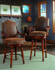 Chesterfield Swivel Bar And Counter Stools