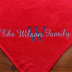 Personalized You Name It Fleece Blanket- Ruby Red