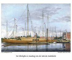 Historische Hamburg-Ansichten von Hafen und Elbe