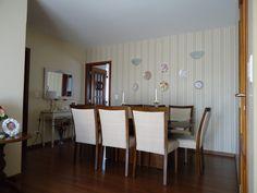 sala de jantar com tecido na parede - Pesquisa Google