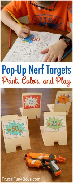 How to Make File Folder Pop-Up Nerf Targets
