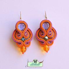 Soutache Earrings - in violet, orange. $58.00, via Etsy.