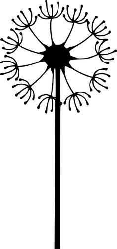 black-dandelion Auf clker.com http://www.pinterest.com/staceysmomm/silhouettes/