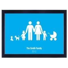 Personalised Poster - Family  from www.personalisedweddinggifts.co.uk :: ONLY £19.99