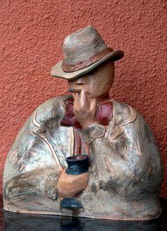 Susie Prunes - Zé Pelintra Escultura em Cerâmica