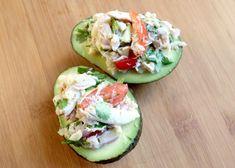 crab salad in an avocado