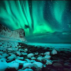 ThanksThe Frozen North by Chris Burkard via SURFER Magazine - One of the most incredible parts of Norway are the northern lights. This year had the brightest lights in the last 10 years due to increased solar flare activity. Aurora Borealis, Beautiful World, Beautiful Places, Surfer Magazine, See The Northern Lights, Oh The Places You'll Go, The Great Outdoors, Wonders Of The World, Cool Pictures