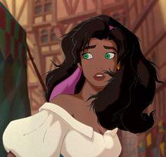 Esmeralda from The Hunchback of the Notre Dame, Disney. I don't know if I like her, Elsa from Froze. Or Mulan better Disney Pixar, Disney Icons, Disney Films, Disney Fan Art, Disney And Dreamworks, Disney Cartoons, Disney Love, Disney Magic, Disney Characters