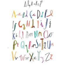 Typography - Clair Rossiter illustration