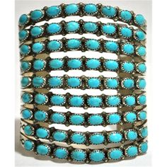 Cuff | Viola Nez (Navajo).  Sterling silver and Turquoise