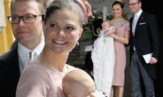 Proud parents Princess Victoria and Prince Daniel of Sweden celebrate as two-month-old Princess Estelle is christened in biggest royal occasion since their own wedding