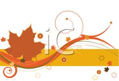 iCLIPART - Royalty Free Clipart Image of an Autumn Leaf Flourish