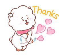 Bts Cute, Cute Gif, Thanks Gif, Frases Bts, Namjoon, Taehyung, Dibujos Cute, Line Friends, Bts Drawings