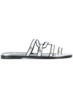 PIERRE HARDY PIERRE HARDY - METALLIC (GREY) SANDALS . #pierrehardy #shoes #