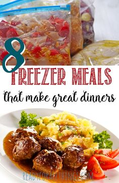 Freezer meals are life savers for busy moms! You can save money and save energy when you make ahead these 8 healthy and delicious meals that your family will love. If you need an easy way to put dinner on the table during pregnancy, freezer friendly meals Freezer Friendly Meals, Easy Freezer Meals, Make Ahead Meals, Freezer Cooking, Freezable Meals, Dump Meals, Batch Cooking, Crockpot Meals, Cooking Challenge