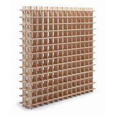 pour la cave à vins : Casier de 182 bouteilles en pin brut