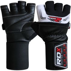 Creazy Gym Body Building Training Gloves Sports Weight Lifting Workout Exercise Black