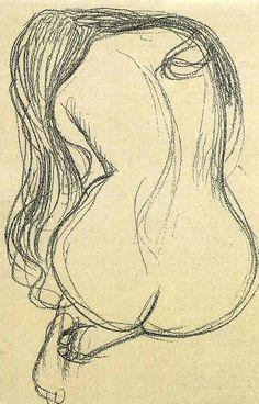 33 dibujos eróticos obra de Gustav Klimt - Cultura Inquieta - Histoire et Art - Life Drawing, Figure Drawing, Drawing Sketches, Painting & Drawing, Art Drawings, Sketch Art, Sketching, Paar Illustration, Alphonse Mucha