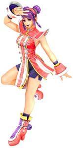 Athena Asamiya KOF Maximum Impact 2 Game Art