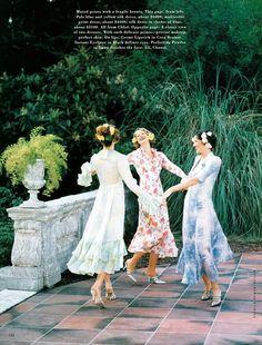 Garden Party | Shalom, Susan, Tajana by Patrick Demarchelier