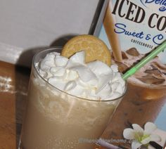 """Everyone needs some """"spoil me"""" time!  Thanks Tricia for the Golden Vanilla Cookie Crumble Ice Cream Iced Coffee Shake recipe! @Nightowlmama"""