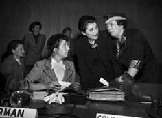 The Commission on the Status of Women, now in its 57th Session (2013), has been instrumental in expanding recognition of women's rights, and in shaping policies on gender equality and empowerment of women. This picture: Madame Marie Helene Lefaucheux, of France, Chairman of Commission; Mary Sutherland of United Kingdom; and Olive Remington Goldman, of the United States.  May 8th, 1950 Photo Credit: UN Photo