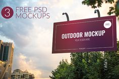 Free 3 Outdoor PSD mockups is a set of PSD mockup. These are very easy to use…