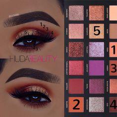 Huda beauty desert dusk palette #eyeshadow