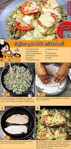 Sajtos-gombás csirkemell, ha kell egy tuti ebédötlet a gombaimádóknak! Hungarian Cuisine, Hungarian Recipes, Cooking Recipes, Healthy Recipes, Mushroom Recipes, Mellow Yellow, No Cook Meals, Food Dishes, Food Hacks