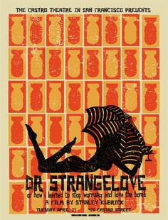 "MP988. ""Dr. Strangelove or: How I Learned to Stop Worrying and Love"" Alternative Movie Poster by David O'Danie (Stanley Kubrick 1964) / #Movieposter"