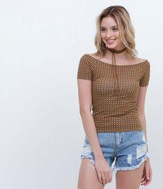 Blusa Cropped Estampada - Lojas Renner
