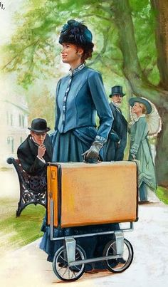 """When full-time preacher Charlotte White arrived in Louisville, Kentucky, U.S.A., rolling a suitcase on wheels, she caused quite a stir. The year was 1908, and sister White certainly got the attention of the townspeople with a brand new invention—the Dawn-Mobile. """"It caused some comment,"""" she reported, """"and made me a little conspicuous."""" Watchtower (2012) w12 2/15 pp. 31-32"""