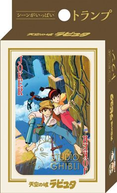 Studio Ghibli Playing Cards -Laputa castle in the sky