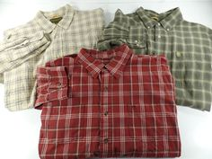 Lot Of 3 Timberland Mens XXL Plaid Button Front Shirts Shirt Size 2XL  #Timberland #ButtonFront