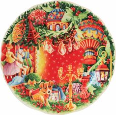 #Gien - assiette plate collection Noël - Gien http://www.gien.com