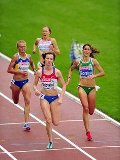 Day 2: Russian Olga Golovkina won women's 5 000 m final at the European Athletics Championships Helsinki 2012 in Helsinki on Thursday, 28th June, 2012. Ukraine's Lyudimila Kovalenko (L) came second, Portugal's Sara Moreira (R) was third.